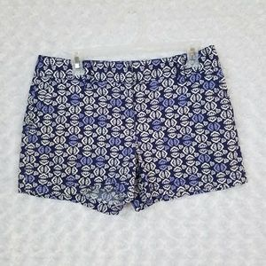 LOFT Womens Size 6 Printed Shorts Blue